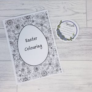 Easter adult colouring book