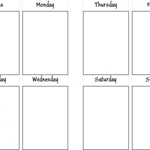 undated weekly block