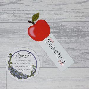 teacher apple bookmark